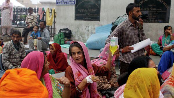 Пострадавшие от землетрясения в Индии. Архивное фото