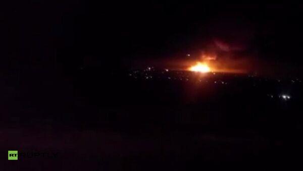 Пожар на складе ракетно-артиллерийского вооружения в городе Сватово Луганской области, Украина. Архивное фото