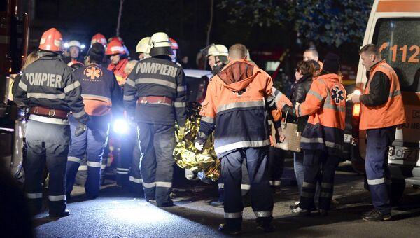 Спасательные службы Бухареста после ЧП в ночном клубе