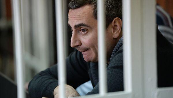 Бывший вице-мэр Новосибирска Александр Солодкин  в суде. Архивное фото