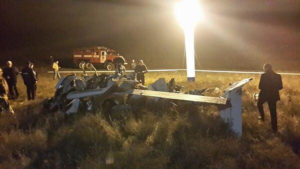 На месте крушения частного четырехместного самолета под Коктебелем