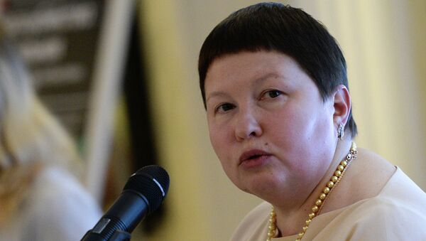 Председатель Комиссии Общественной палаты по развитию общественной дипломатии и поддержке соотечественников за рубежом Елена Сутормина. Архивное фото