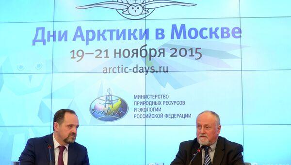Пресс-конференция по итогам научной работы на дрейфующей станции Северный полюс - 2015