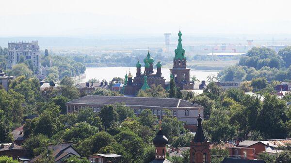 Вид на город Краснодар. Архивное фото