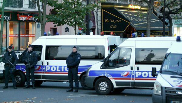 Полиция у театра Батаклан в Париже, 14 ноября 2015