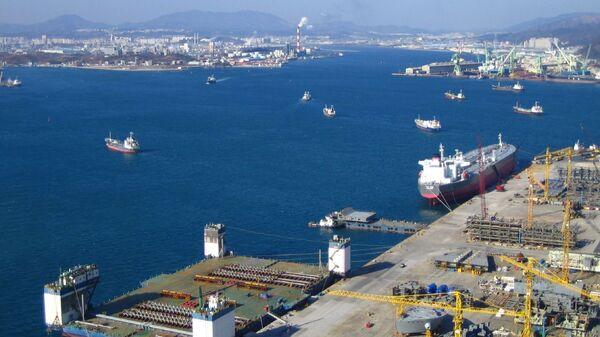 Южнокорейский порт Ульсан