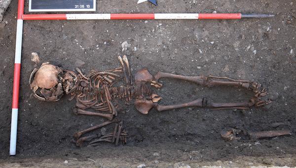 Скелет средневекового подростка, найденный в Нижней Австрии