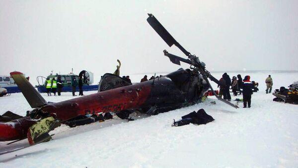 Крушение вертолета Ми-8 в Красноярском крае. Архивное фото