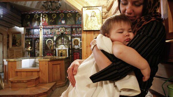 Обряд крещения в праздник Крещения Господня