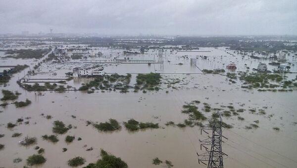 Наводнение в штате Таминаду на юге Индии