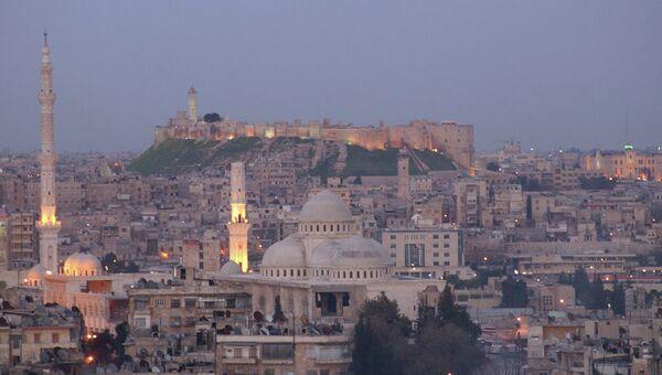 Вид на город Алеппо, Сирия. Архивное фото