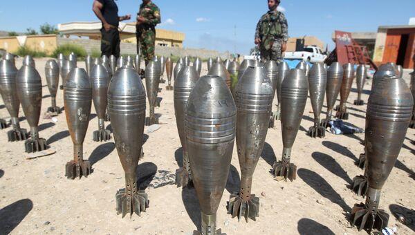 Боеприпасы ИГ, найденные возле города Тикрит. Архивное фото