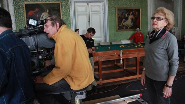 Актриса и режиссер Светлана Дружинина во время съемок. Архивное фото