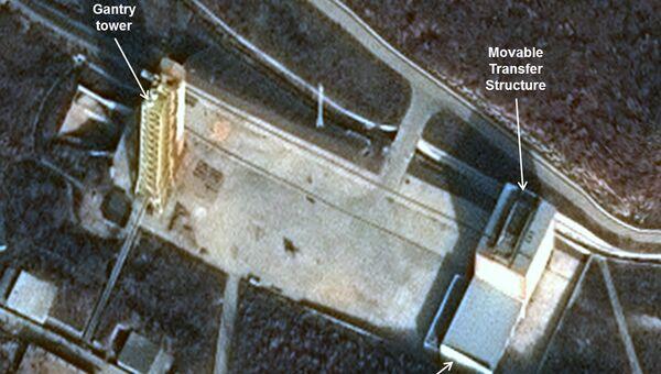 Спутниковые снимки космодрома Сохэ, Северная Корея
