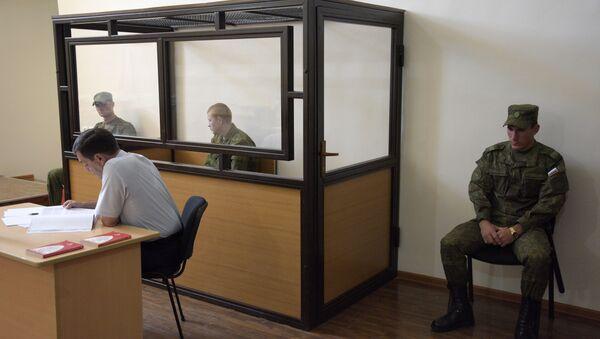 Судебное заседание по делу российского военнослужащего Валерия Пермякова, обвиняемого в убийстве семьи из семи человек в городе Гюмри