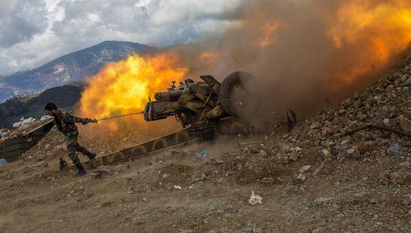 Позиция артиллерии возле города Кесаб. Архивное фото
