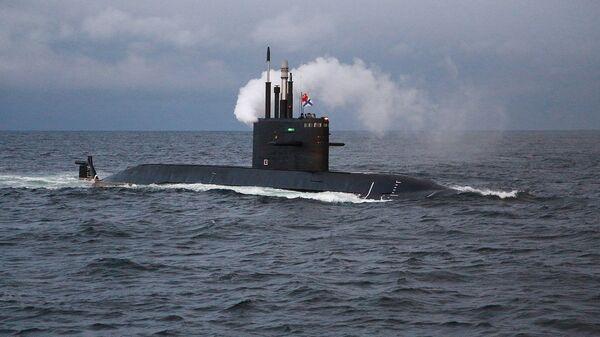 Подлодка проект 677 Лада в Баренцевом море