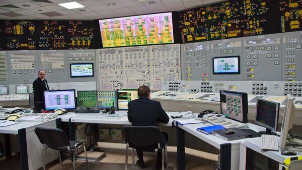 Блочный щит управления блоком Нововоронежской атомной электростанции. Архивное фото