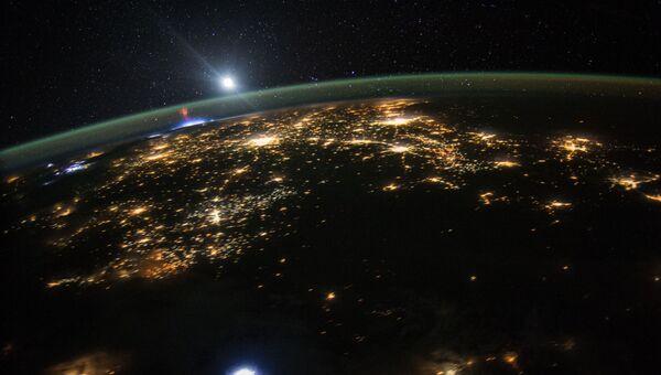 Спрайты (электрические разряды холодной плазмы) над Мексикой. Архивное фото