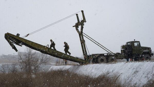 Учебные занятия морской инженерной службы Черноморского флота. Архивное фото