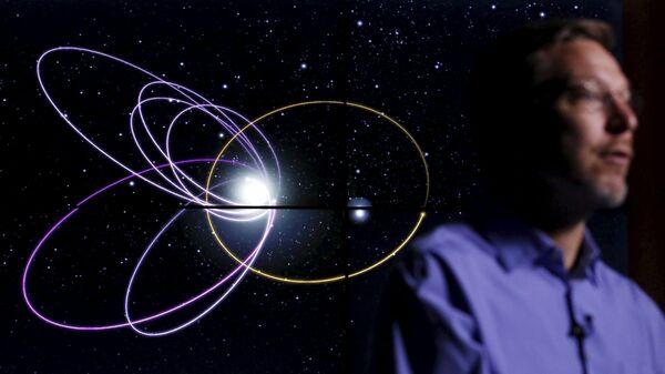 Орбита предполагаемой девятой планеты в Солнечной системе
