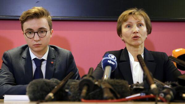 Марина и Анатолий Литвиненко во время пресс-конференции в Лондоне 21 января 2016