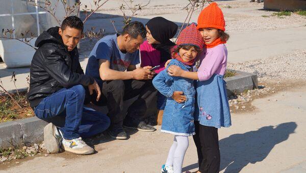 Центр размещения беженцев в афинском районе Элеона. Архивное фото
