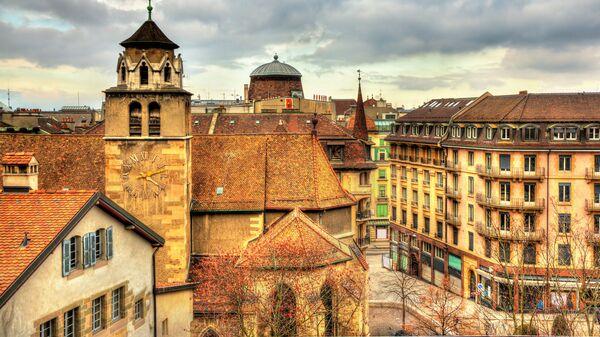 Вид на Женеву, Швейцария. Архивное фото.