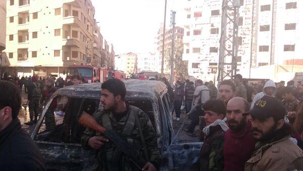 Последствия теракта в Дамаске, где погибли по меньшей мере 76 человек