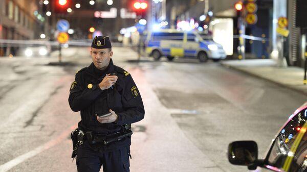Сотрудник шведской полиции. Архивное фото