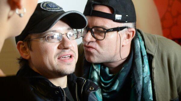 Актеры Андрей Гайдулян и Алексей Климушкин во время премьеры фильма С 8 марта, мужчины!