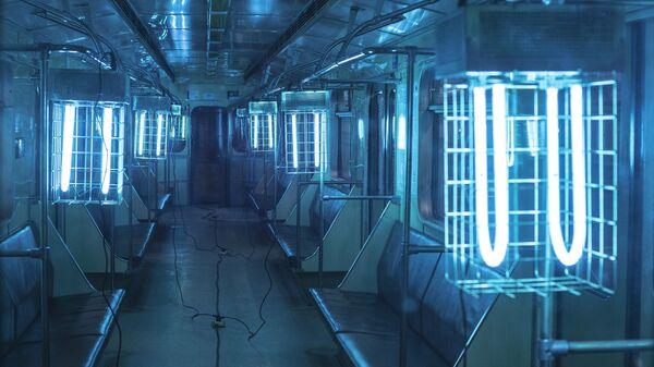 Ультрафиолетовые лампы в метро