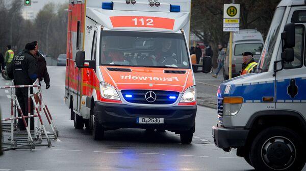 Автомобиль скорой помощи в Германии. Архивное фото