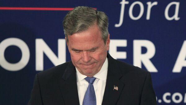 Выбывший из предвыборной гонки республиканец Джеб Буш