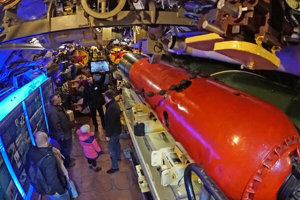 Торпедный отсек подводной лодки Б-413 проекта 641, являющейся экспонатом Музея Мирового океана в Калининграде