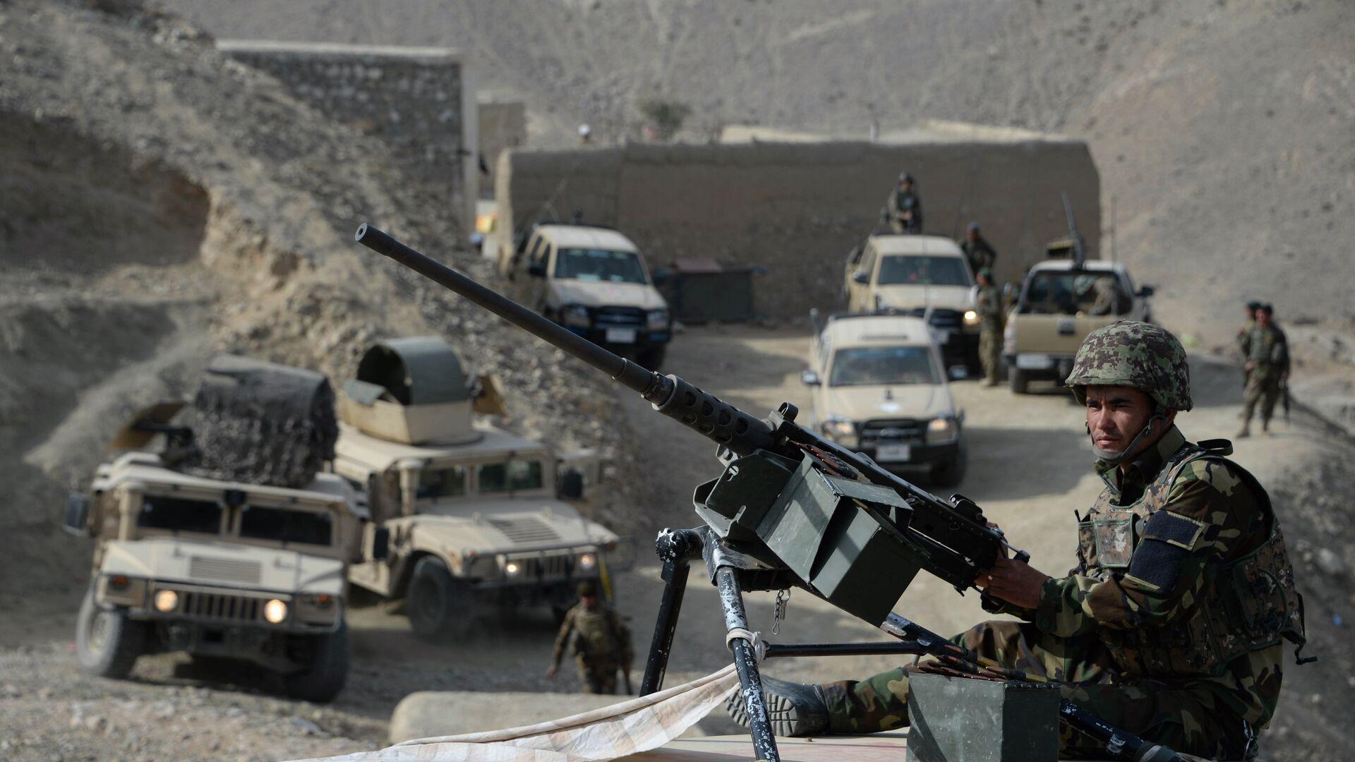 Афганские силы безопасности после операции против боевиков исламского государства (ДАИШ) в провинции Нангархар - РИА Новости, 1920, 22.07.2021