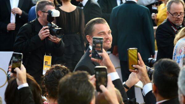 Леонардо Ди Каприо на 88-й церемонии вручения премии Оскар в Голливуде, США