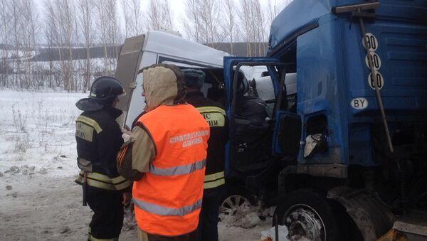 Крупное ДТП на федеральной трассе М-5 Урал в Бессоновском районе