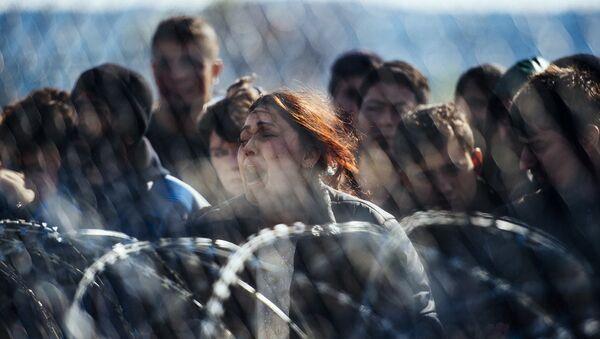 Беженцы на границе. Архивное фото