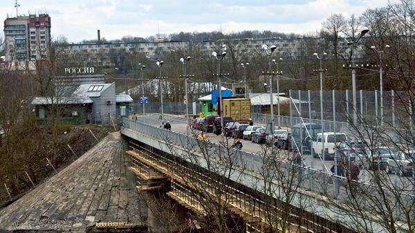 Граница России с Эстонией. Ивангород - Нарва. Архивное фото