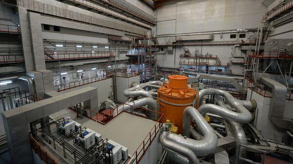 Центральный зал 4-го энергоблока с реактором БН-800 Белоярской АЭС в городе Заречный Свердловской области
