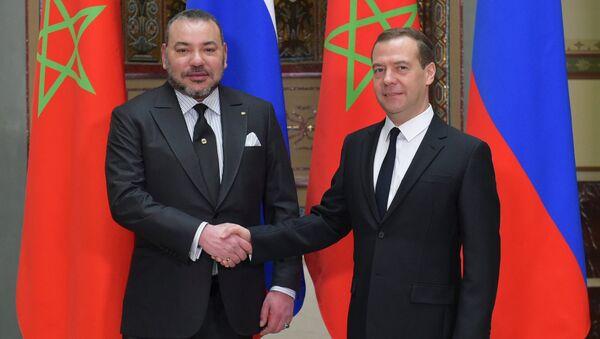 Встреча премьер-министра РФ Д. Медведева и короля Марокко Мухаммеда VI
