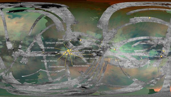 Карта Титана