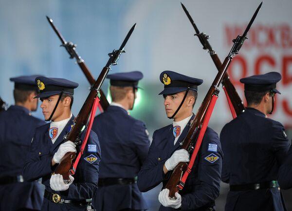 Оркестр Военно-воздушных сил Греции на международном военно-музыкальном фестивале Спасская башня