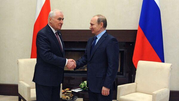 Встреча президента РФ В. Путина с президентом Южной Осетии Л. Тибиловым. Архивное фото