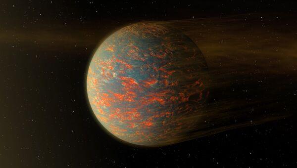 Так художник представил себе планету-алмаз в созвездии Рака