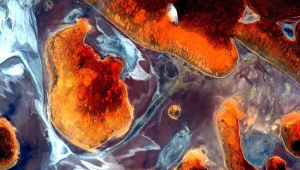 Австралия снятая с Международной космической станции
