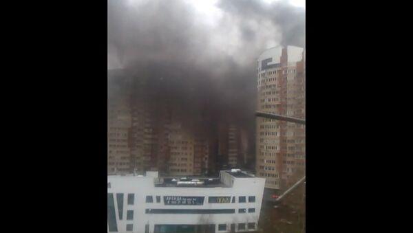 Пожар в подмосковном Пушкино