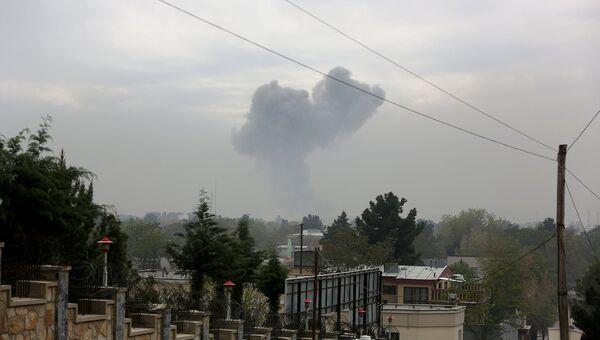 Место взрыва в Кабуле. 19 апреля 2016