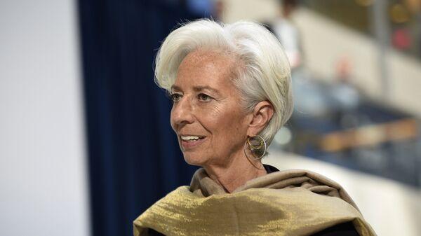Глава Международного валютного фонда Кристин Лагард в штаб-квартире МВФ